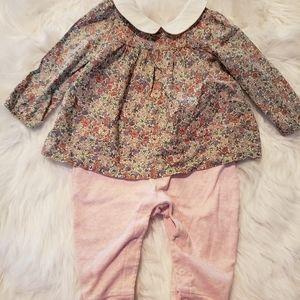 Gap baby girl floral onesie size 6-9mths